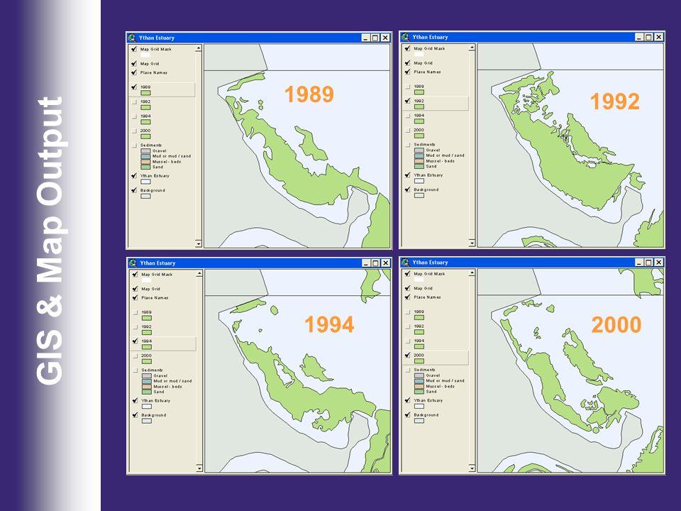 GIS & Map Output 1989 2000 1994 1992