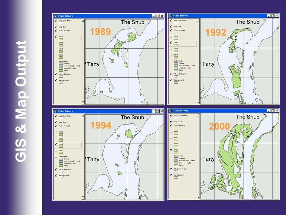 GIS & Map Output 2000 1989 1994 1992