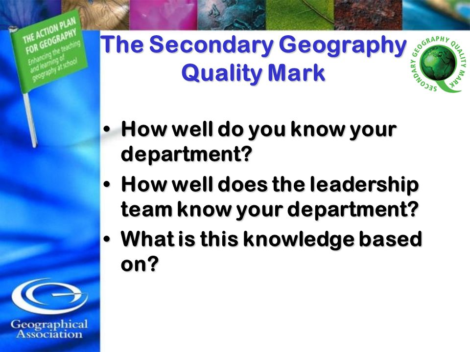 How well do you know your department?How well do you know your department? How well does the leadership team know your department?How well does the le