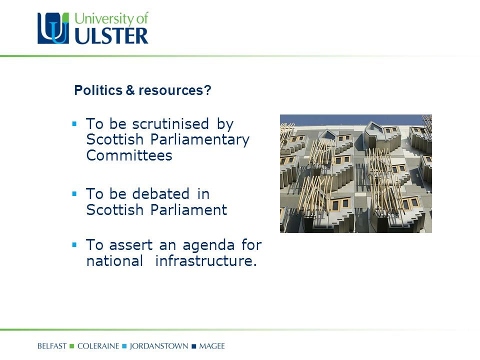 Politics & resources.