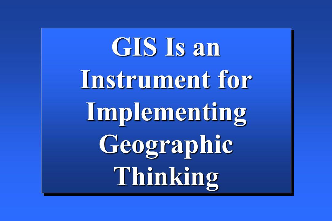 InputInput StorageStorage ManipulationManipulation QueryQuery AnalyzeAnalyze VisualizationVisualization Functions of a GIS Geographic data is the fuel of GIS.