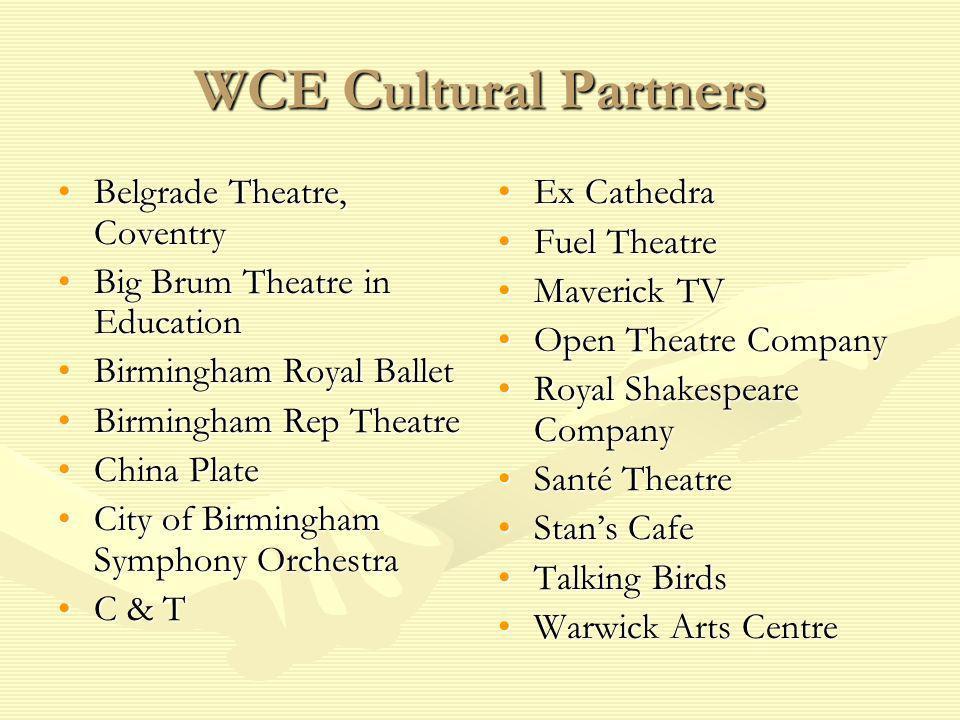 WCE Cultural Partners Belgrade Theatre, CoventryBelgrade Theatre, Coventry Big Brum Theatre in EducationBig Brum Theatre in Education Birmingham Royal