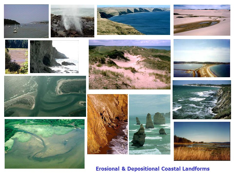Erosional & Depositional Coastal Landforms