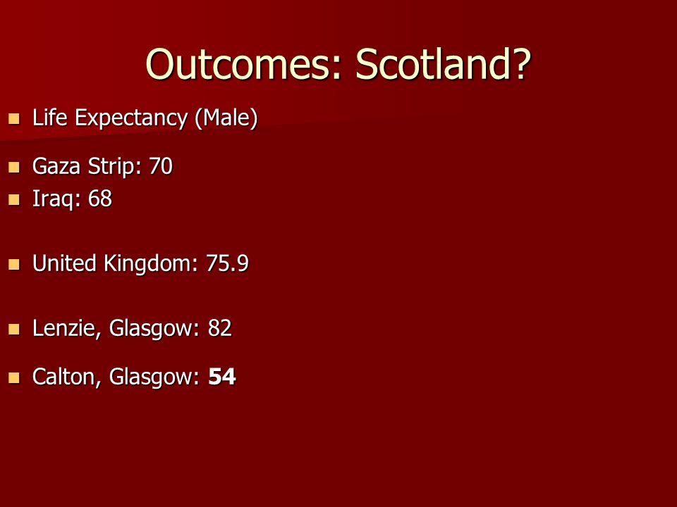 Outcomes: Scotland.