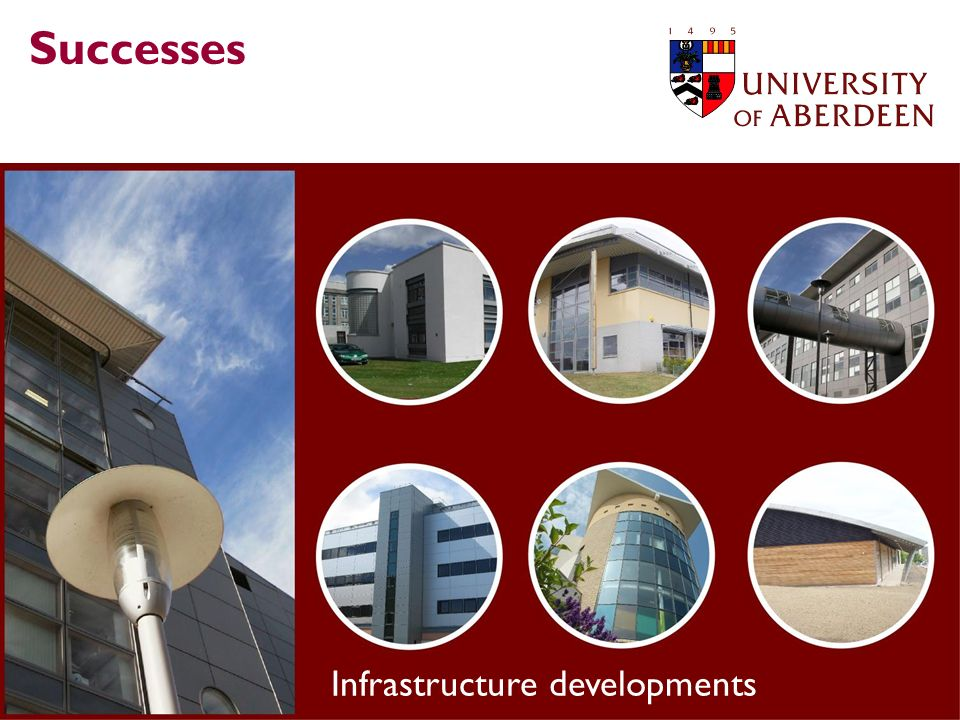 Successes Infrastructure developments