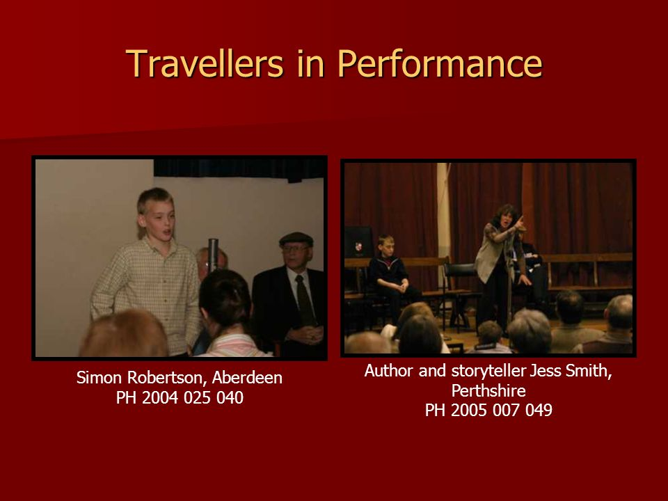 Travellers in Performance