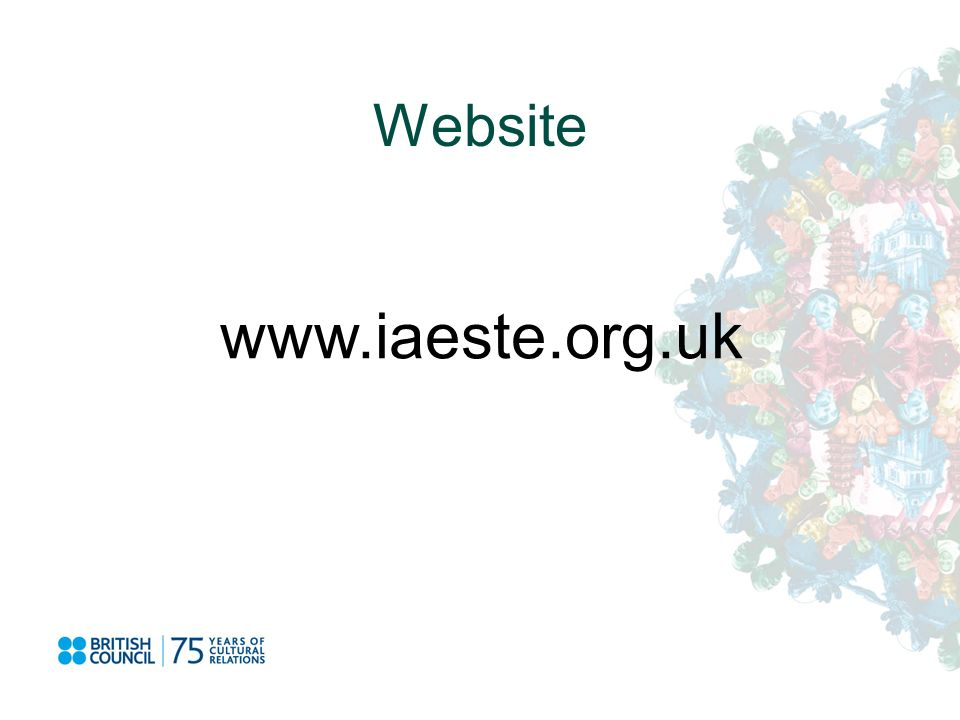 Website www.iaeste.org.uk