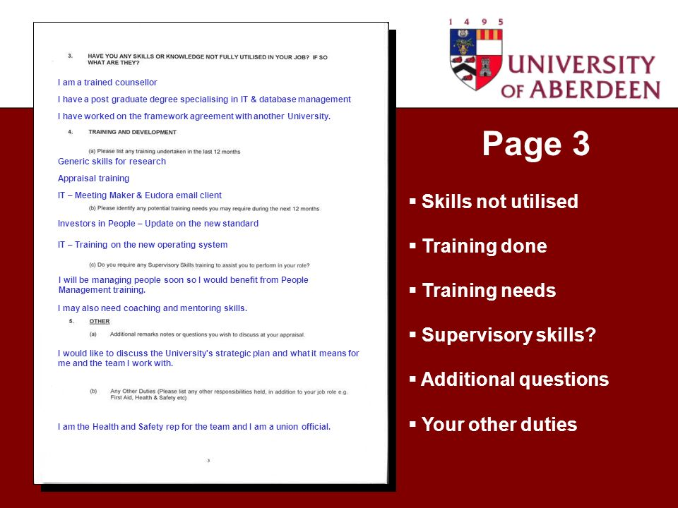 Page 3 I am a trained counsellor I have a post graduate degree specialising in IT & database management I have worked on the framework agreement with