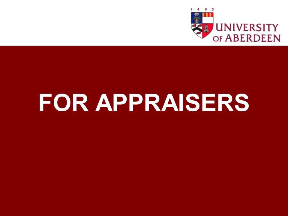 FOR APPRAISERS