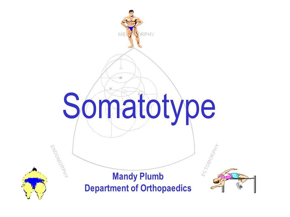 Arthur Stewart Somatotype Mandy Plumb Department of Orthopaedics