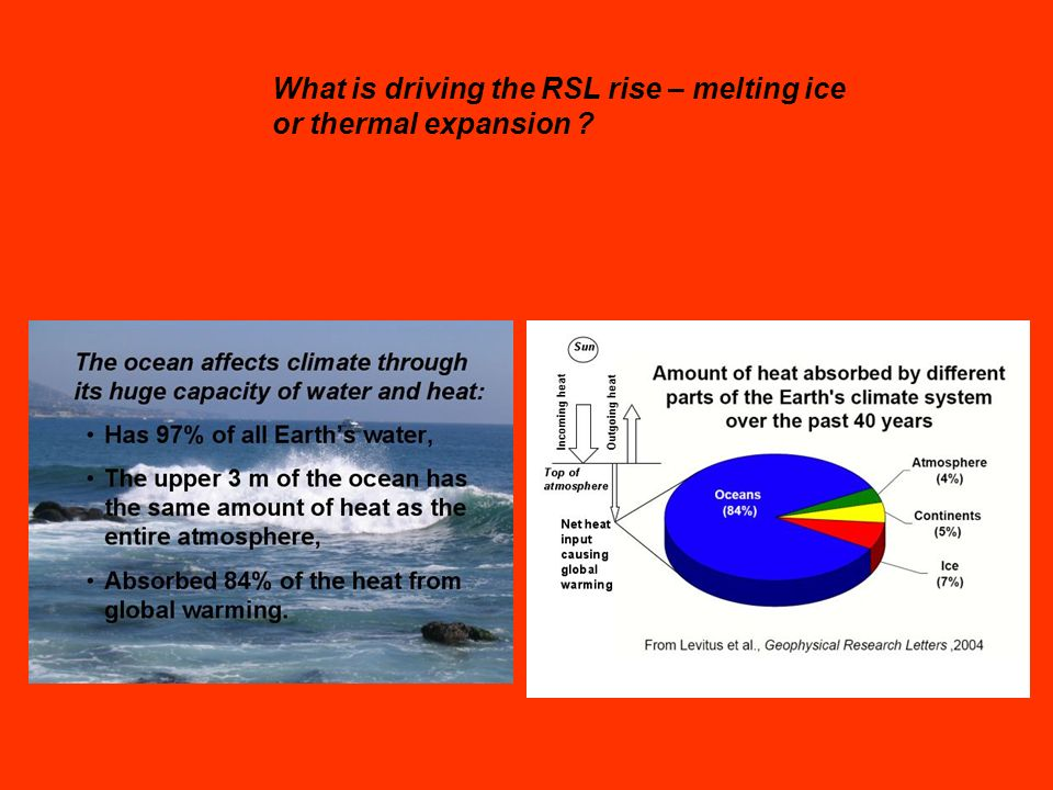 What is driving the RSL rise – melting ice or thermal expansion