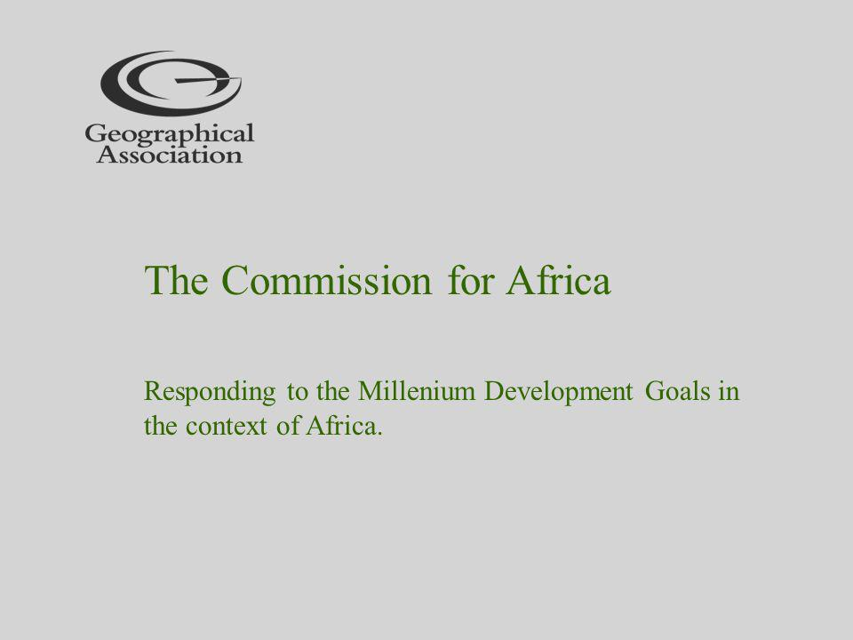 Responding to the Millenium Development Goals in the context of Africa.