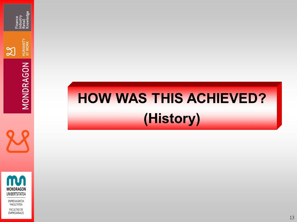 13 HOW WAS THIS ACHIEVED? (History)