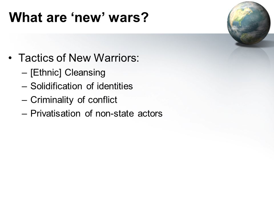What are new wars.