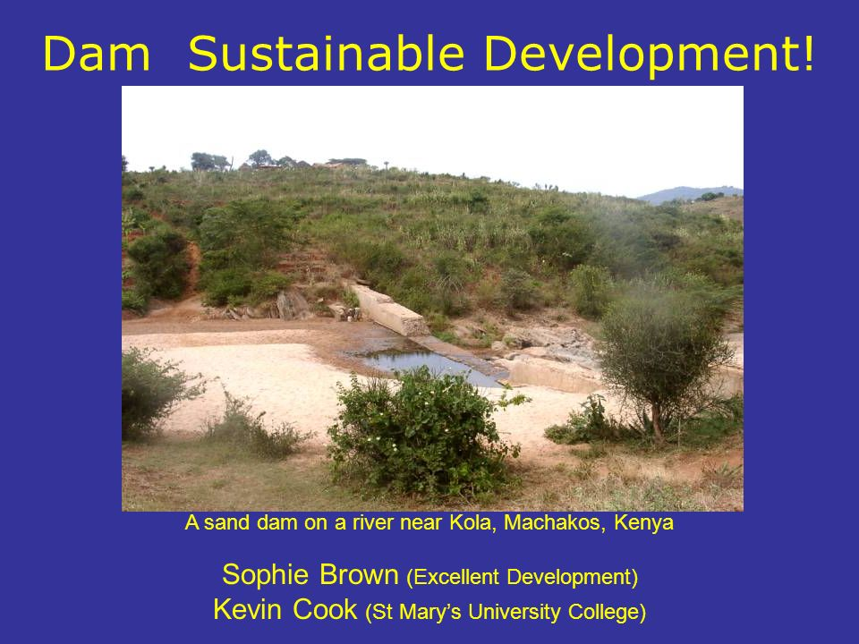 Dam Sustainable Development.