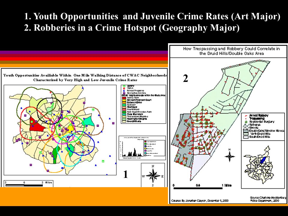 1. Youth Opportunities and Juvenile Crime Rates (Art Major) 2.