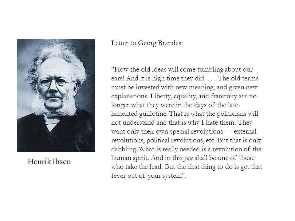 Henrik Ibsen Letter to Georg Brandes: