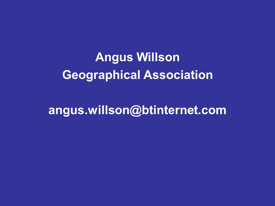Angus Willson Geographical Association