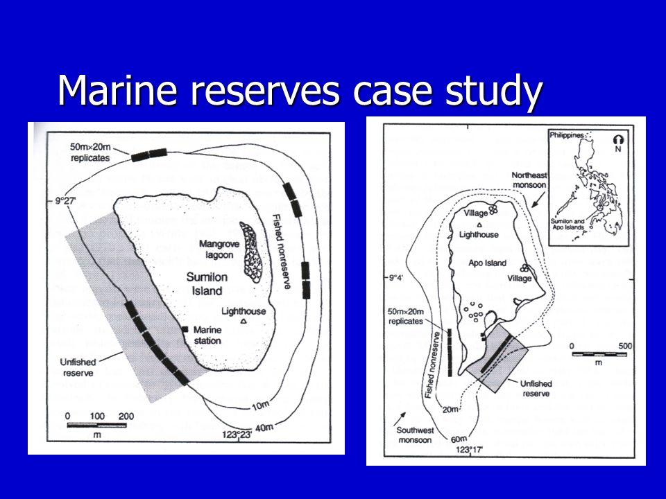 Marine reserves case study
