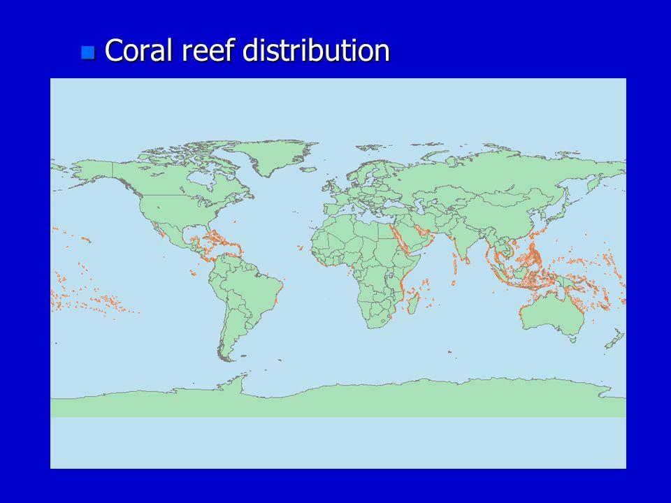 n Coral reef distribution