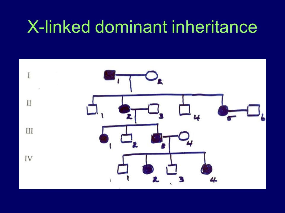 X-linked dominant inheritance