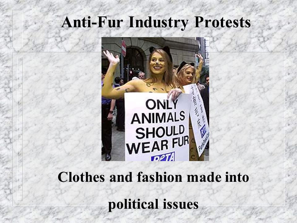 Anti-Fur Industry Protests Clothes and fashion made into political issues