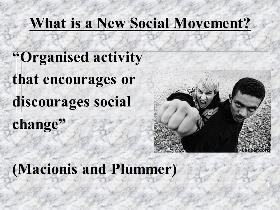 What is a New Social Movement.