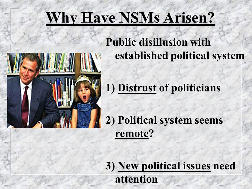 4) Bureaucratisation 5) Splits within movements: - reformists and radicals