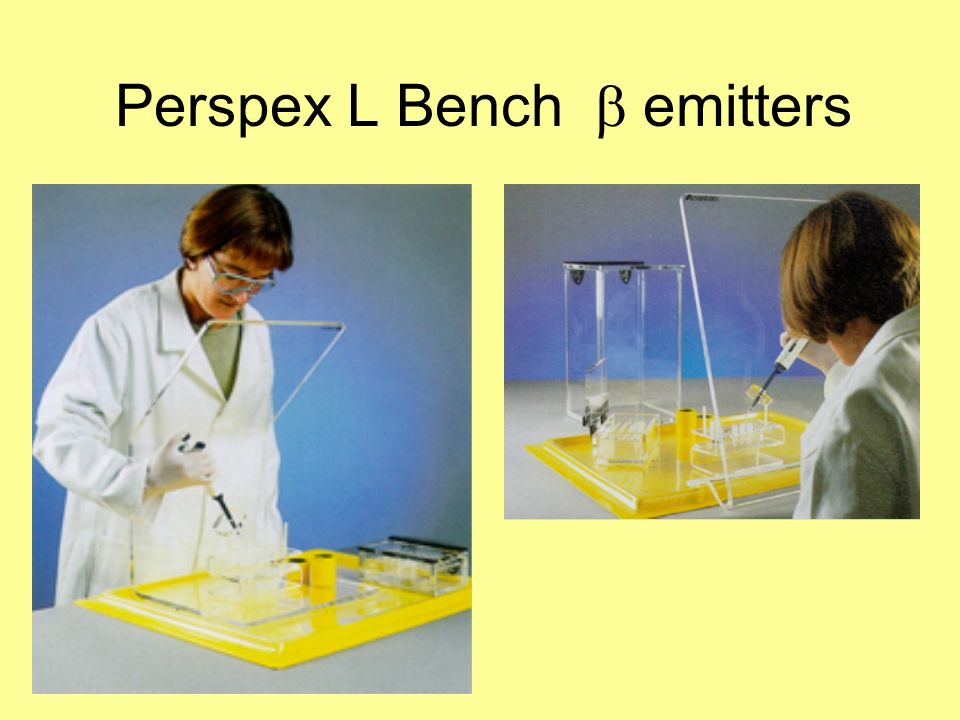 Perspex L Bench emitters