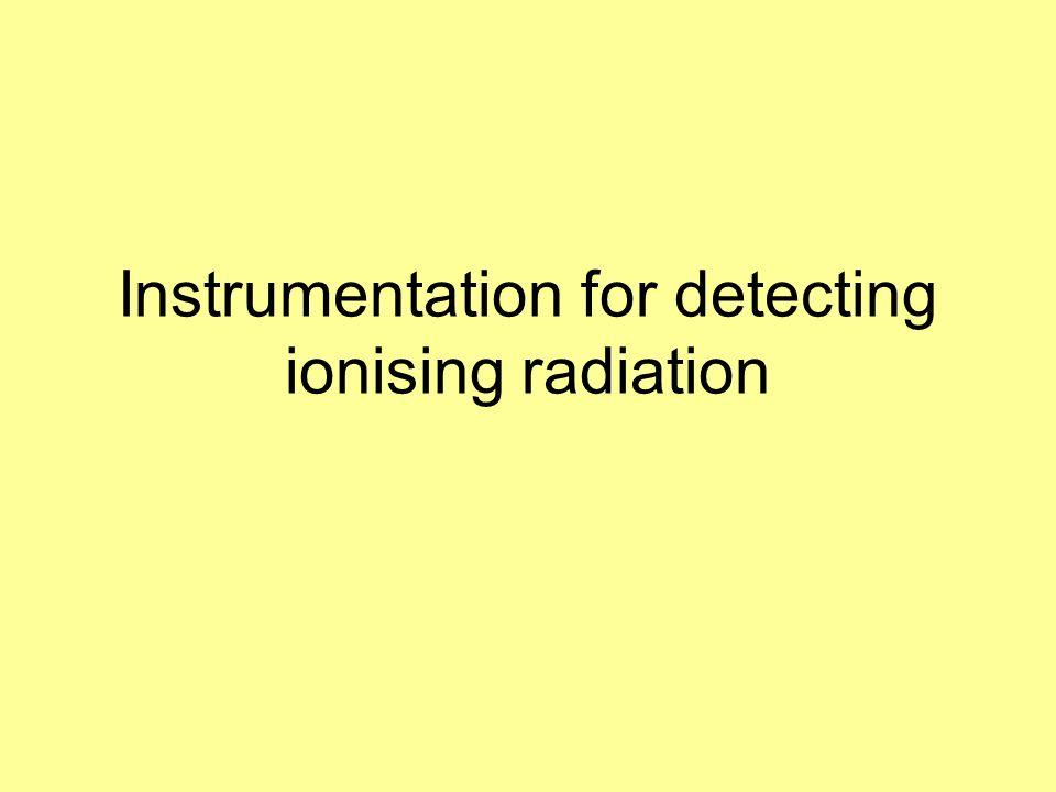 Instrumentation for detecting ionising radiation