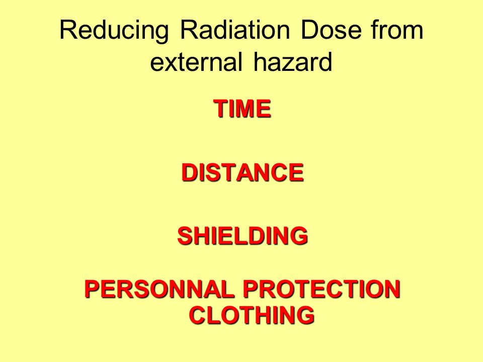 Radiation protection in X-ray