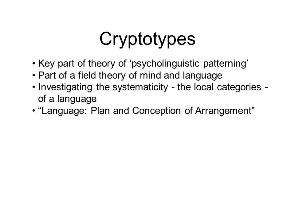 Cryptotypes ...