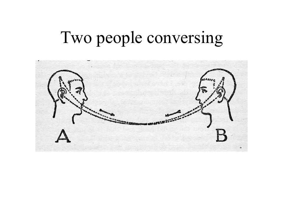 Two people conversing