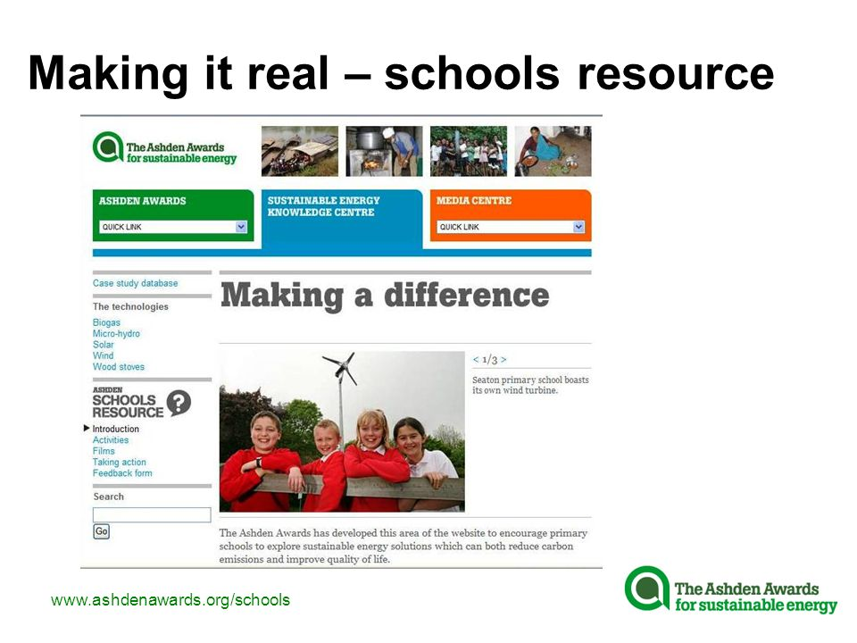 Making it real – schools resource