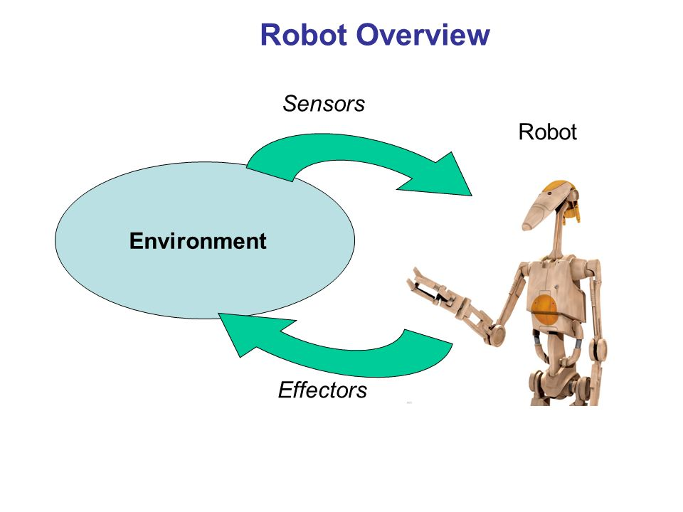 Robot Overview Robot Environment Sensors Effectors