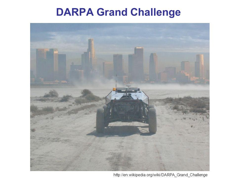 DARPA Grand Challenge http://en.wikipedia.org/wiki/DARPA_Grand_Challenge