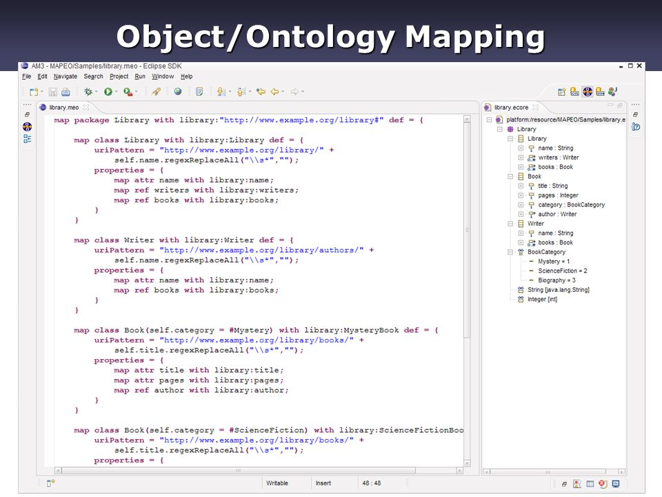 SWESE'0812 Object/Ontology Mapping