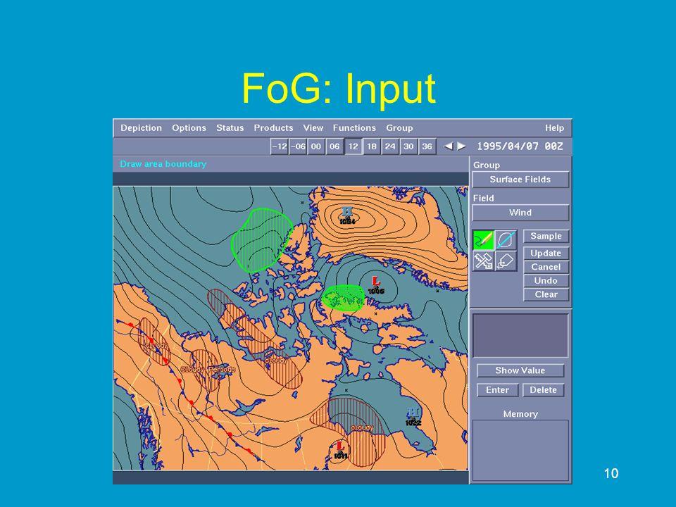 10 FoG: Input