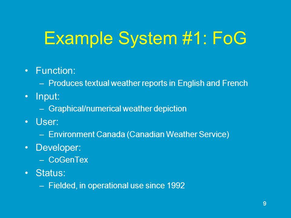 90 Document Structuring in WeatherReporter RainSoFar Msg CONTRAST RainAmounts Msg CONTRAST ELABORATIO N RainSpell Msg RainyDays Msg ELABORATIO N MonthlyTmp Msg SEQUENC E Monthly RainfallMsg
