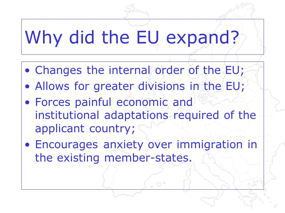 Why did the EU expand.