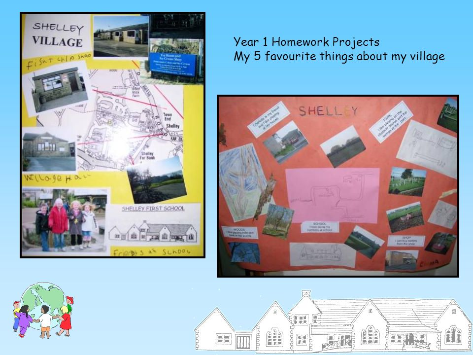 Year 1 Homework Projects My 5 favourite things about my village