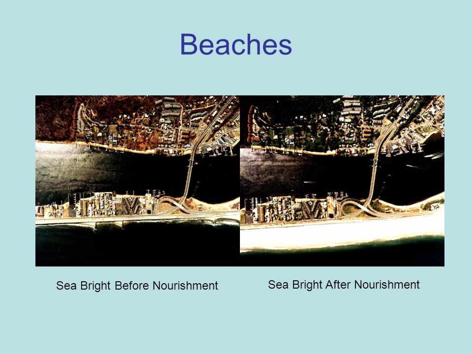 Sea Bright Before Nourishment Sea Bright After Nourishment