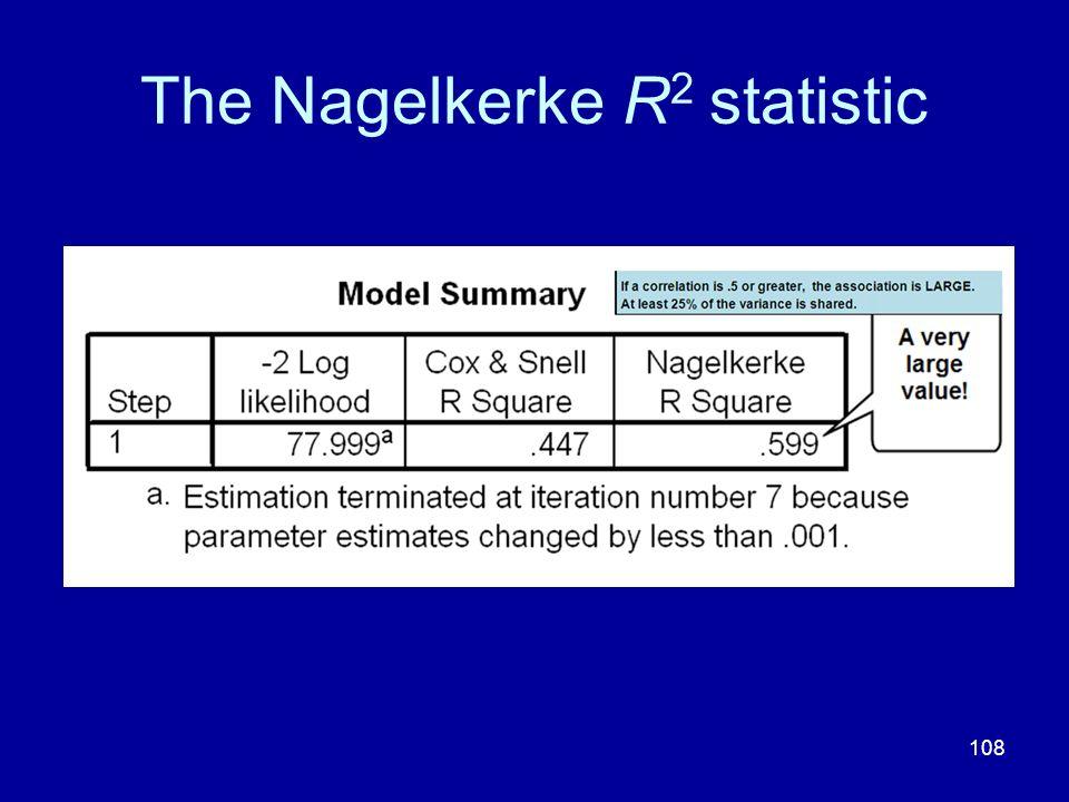 108 The Nagelkerke R 2 statistic