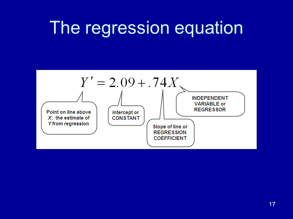 17 The regression equation