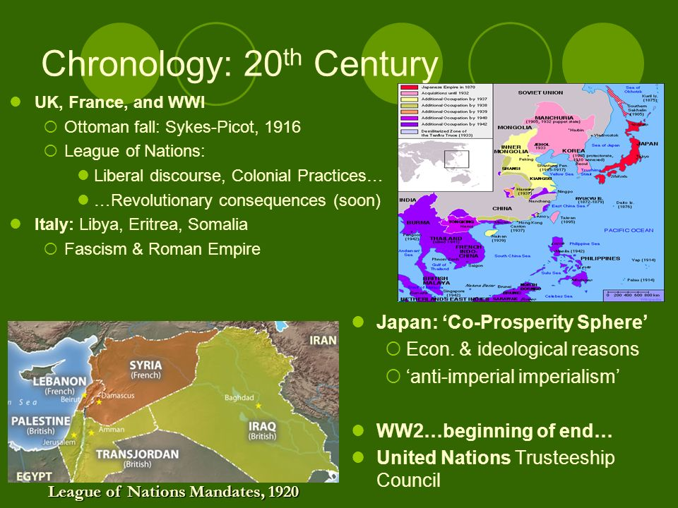 Chronology: 20 th Century Japan: Co-Prosperity Sphere Econ.