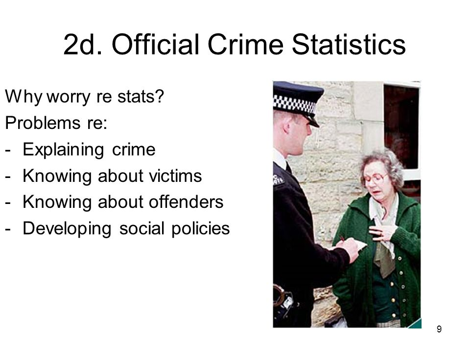 9 2d. Official Crime Statistics Why worry re stats.
