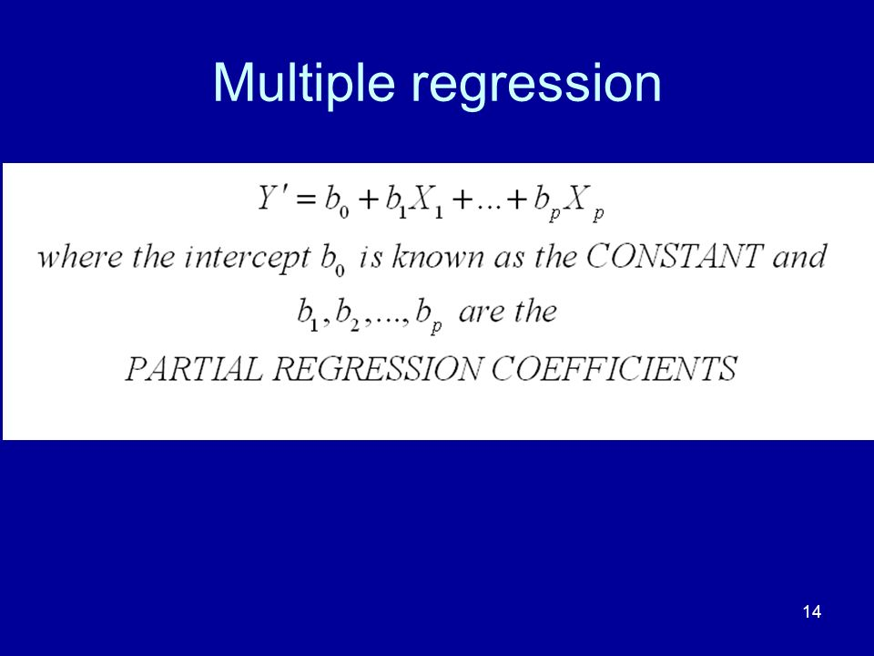 14 Multiple regression