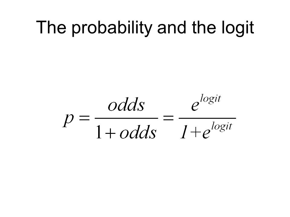 48 The probability and the logit