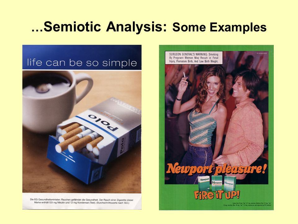 … Semiotic Analysis: Some Examples
