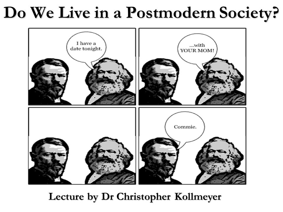 Outline for Lecture : Key Question : Do we live in a postmodern society.